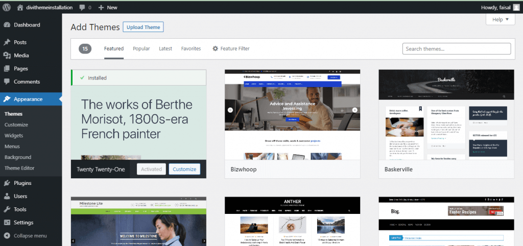 Design and Appearance on WordPress