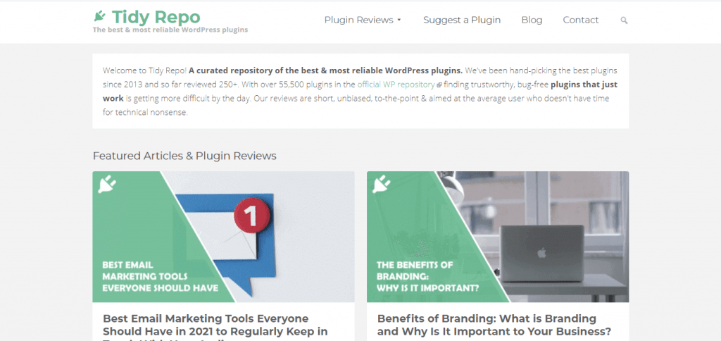 Tidy Repo - Show you Best Plugin for Your Comming Blog Post Site